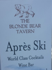 apres ski at the Blond Bear Tavern Taos Ski valley