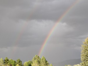 double rainbow Taos, NM